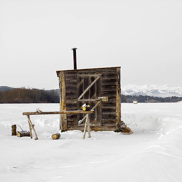 ijshut op canadees meer