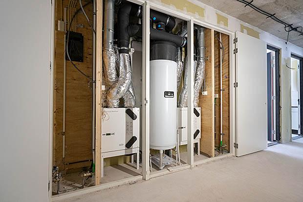 boiler ingebouwd