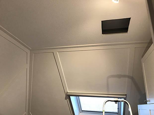 dak aan binnenkant