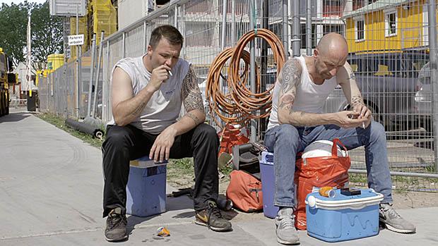 twee bouwvakkers