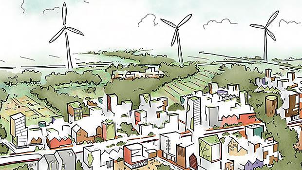 tekening windmolens
